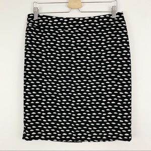 Nine West | Black and White Pencil Skirt Lined